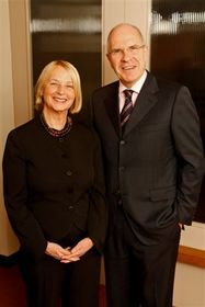 Lenore Cooney, Founder and Chairman of Cooney/Waters and Don Elgie, Chief Executive of Creston