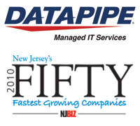 Managed Hosting Leader Datapipe Named Among New Jersey's Fastest Growing Companies
