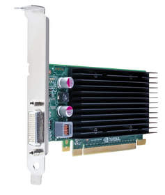 NVIDIA NVS 300 - front of card on side angle shot
