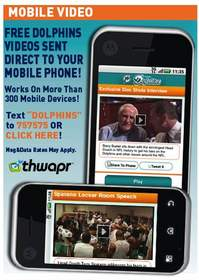 Thwapr, mobile video, miami dolphins