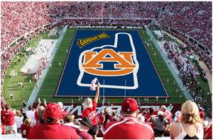 GameDay Rugs(TM), online retailer of high-quality collegiate sports-licensed rugs, has helped Auburn ambush Bryant-Denny Stadium in honor of today's historic 100-year-plus Iron Bowl matchup. In the spirit of rivalries everywhere, both big and small, GameDay Rugs(TM) is holding up a giant foam finger to loyal fans, too, by offering 30% off orders from www.gamedayrugs.com. Promo Code: GDRFinger