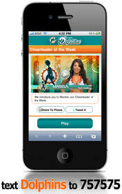 Thwapr, Miami Dolphins Mobile Video