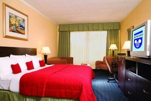 A guest room at the Wyndham Lake Buena Vista Resort