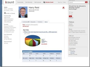 Icount analytical reports for politicians