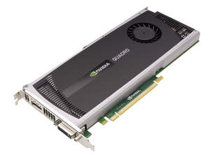 NVIDIA Quadro 4000 for Mac -- 3 qtr flat shot