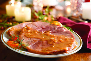 Sliced Ham with Peanut Butter Glaze