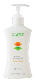 Seventh Generation's new natural hand wash.