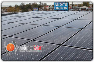Andys Liquor Solar panel Installation by Syndicated Solar