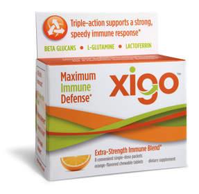 natural immune products, cold and flu, Xigo, lactoferrin, beta-glucans, L-glutamine