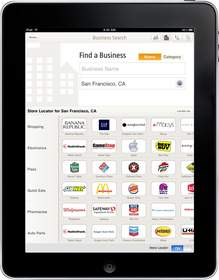 WhitePages, iPad, Mobile Store Locator, Location-Based