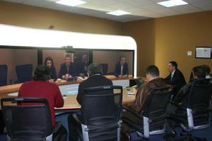 Journalists in Algeria attend the launch of the Cisco TelePresence solution at the Cisco offices in Algiers.