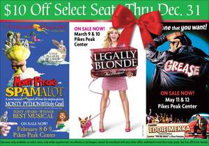 Broadway in Colorado Springs Musical Holiday Offer