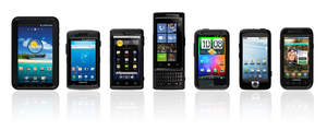 OtterBox Cases for Samsung, Dell and HTC devices.