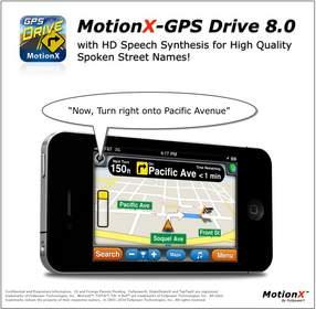 MotionX-GPS(TM) Drive V8.0 Now With Spoken Street Names