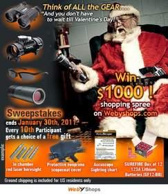 Webyshops.com $1000 Shopping Spree: scopes, sunglasses, binoculars and more
