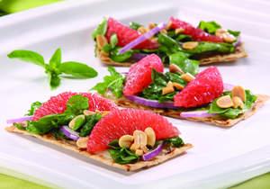 Grapefruit and Peanut Salad Flatbread