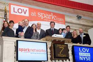 Adam Berger, CEO of Spark Networks, Inc. (NYSE Amex: LOV), along with several success stories, rang The Opening Bell at the New York Stock Exchange (NYSE) in celebration of JDate.com's B'nai Mitzvah.
