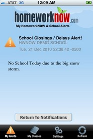 HomeworkNOW & School Alerts app for ipod, iphone, android