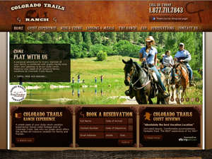 New website design by WebProvise, internet marketing company for Colorado Trails dude ranch.