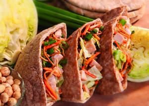 Pita Pockets with Chinese Chicken-Peanut Salad