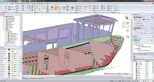 Concept for ship hull design validated and prepared for manufacturing in SpaceClaim 2011