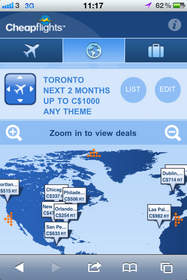 Cheapflights.ca¿s new mobile website