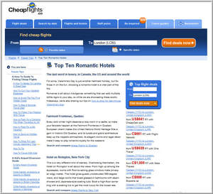 Cheapflights.ca's Top 10  Romantic Hotels