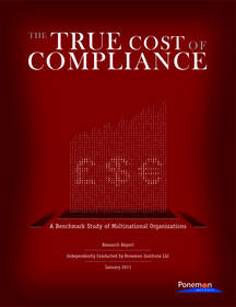 The True Cost of Compliance: A Benchmark Study of Multinational Organizations