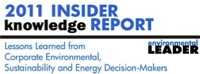 Environmental Leader¿s 2011 Insider Knowledge Report
