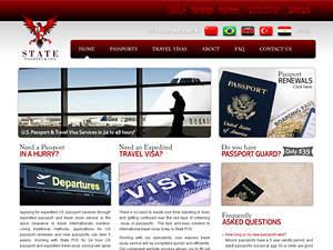 State Passport & Visa Services New Website Design