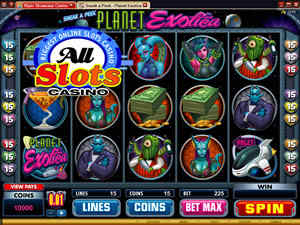 Sneak a Peek: Planet Exotica - new at All Slots Online Casino