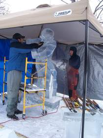 |NY Credit Union| Text Voting Ice Sculpture Competition Winner Earl Convington