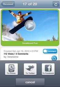 iphone app, mobile video sharing, photo sharing, thwapr, facebook, twitter