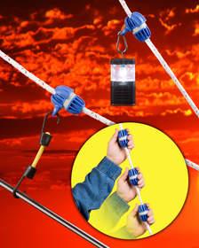 SlipKnot, adjustable rope stop, rope stop, rope clamp, line clamp, line stop, rope tie