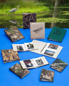 Fishing and hunting albums for preserving great memories.