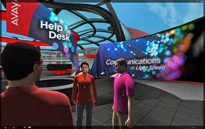 Avaya web.alive immersive web collaboration platform as a trade show environment