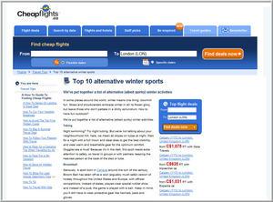 Cheapflights.ca Top 10 Alternative Winter Sports