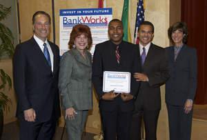 JVS Bankworks Graduation with Mayor Villaraigosa