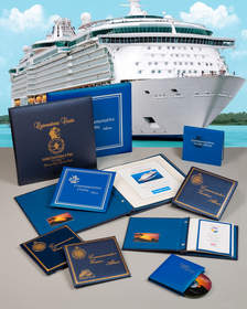 Maritime Graphics' commemorative cruise albums can be personalized for tour operators, cruise lines, and other travel agencies.  They offer the highest level of personalization and come in many styles and price points.
