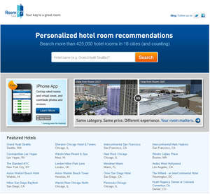 Room 77 is the world¿s first hotel room database and search engine, providing consumers with unprecedented detail about each guestroom at hundreds of 3- to 5-star properties.