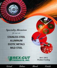 Rex-Cut  Specialty Abrasives Catatalog for grinding, deburring and blending