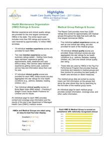 2011 Health Care Quality Report Card Highlights