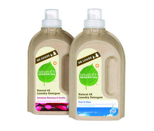 Seventh Generation Natural 4X Laundry Detergent in Geranium Blossoms & Vanilla and Free & Clear.