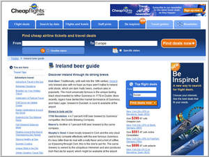 Cheapflights.com,beer,Europe,Ireland,Germany,Austria,brewery,st patrick's day,travel,local,airport