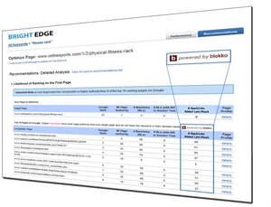 BrightEdge-blekko real time link graph integration screen shot