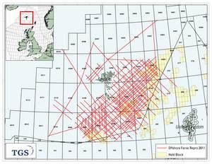 TGS Offshore Faroe 2D Reprocessing Map
