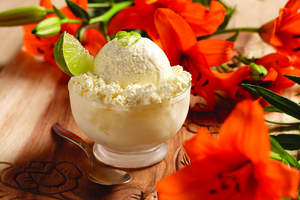 Caribbean Pineapple-Lime Ice Cream