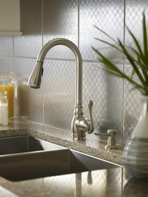 Moen's Spot Resist finish does just what it says -- resists fingerprints and water spots.