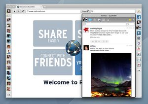 RockMelt Social Browser Twitter App