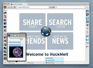 RockMelt Social Browser Facebook Chat